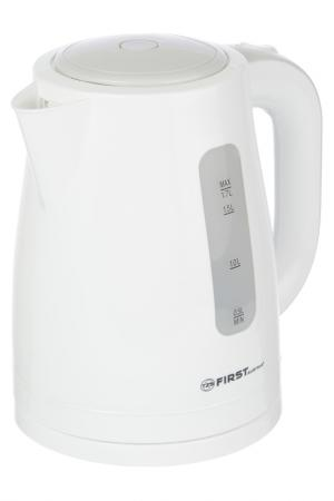 Чайник пластиковый FIRST. Цвет: белый, серый