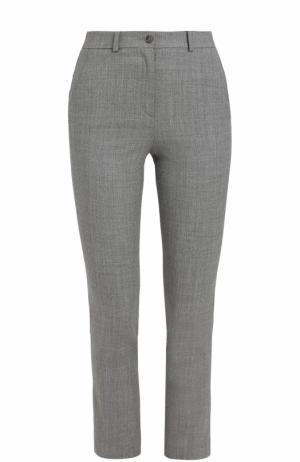 Укороченные брюки-скинни со стрелками Michael Kors Collection. Цвет: серый