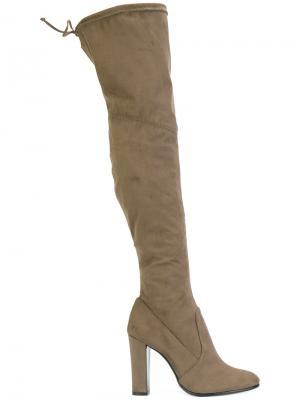 Ботфорты на каблуке Schutz. Цвет: коричневый