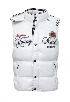 Жилет утепленный Young & Rich. Цвет: белый