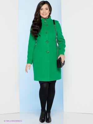 Пальто Electrastyle. Цвет: зеленый, желтый