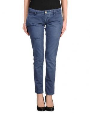 Повседневные брюки MONOCROM. Цвет: грифельно-синий