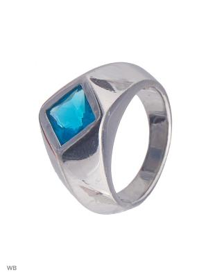 Кольцо Мастер Клио. Цвет: голубой, серебристый