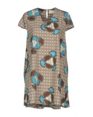 Короткое платье VICOLO. Цвет: бирюзовый