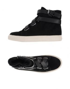 Высокие кеды и кроссовки AERIN. Цвет: черный