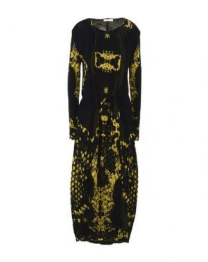 Платье длиной 3/4 MANOSTORTI. Цвет: желтый