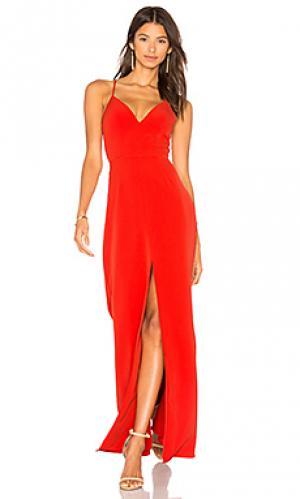Вечернее платье helena Lovers + Friends. Цвет: оранжевый