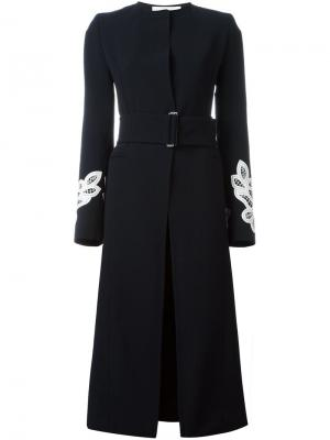 Однобортное пальто Victoria Beckham. Цвет: синий