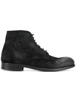 Ботинки по щиколотку на шнуровке Leqarant. Цвет: чёрный