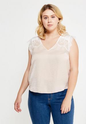 Блуза Violeta by Mango. Цвет: бежевый