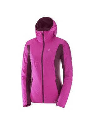 Куртка DRIFTER MID HOODIE W Rose Violet/Fig SALOMON. Цвет: розовый, фиолетовый