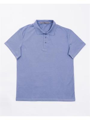 Футболка-поло Mark Formelle. Цвет: серо-голубой