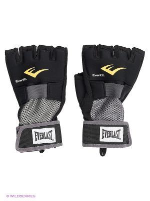 Перчатки гелевые Everlast. Цвет: черный