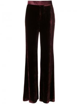 Широкие брюки с бархатным эффектом Mantu. Цвет: розовый и фиолетовый