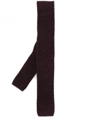 Трикотажный галстук Eleventy. Цвет: розовый и фиолетовый