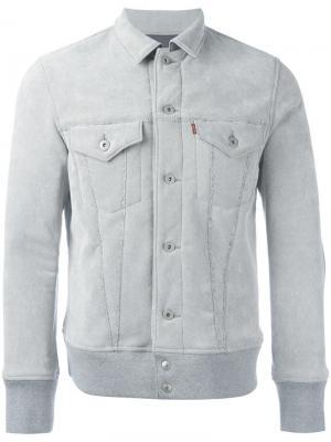 Куртка из искусственной кожи Junya Watanabe Man X Levis Levi's. Цвет: серый