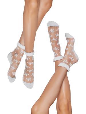 Фэшн носки 2 пары Пеппи Длинныйчулок Nothing but Love. Цвет: прозрачный, белый