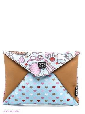 Мини-Клатч Сластена Мег Kimmidoll. Цвет: розовый, коричневый, голубой