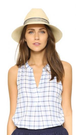 Шляпа Clasico Brisa Artesano. Цвет: светлый бежевый/темно-синий