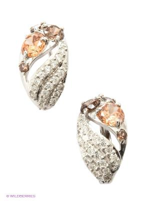 Серьги Lovely Jewelry. Цвет: серебристый, бежевый