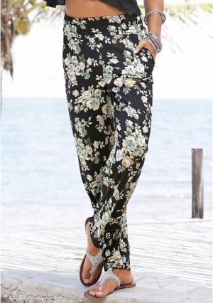 Пляжные брюки s.Oliver. Цвет: черный/зеленый