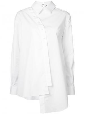 Асимметричная рубашка Les Animaux. Цвет: белый