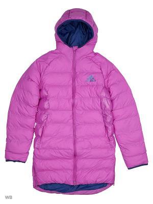Пальто дет. спорт. YG SD COAT  SHOPUR/UNIINK Adidas. Цвет: фиолетовый, темно-синий