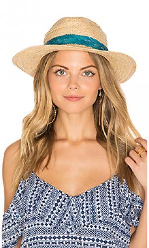 Шляпа с вышитой лентой Hat Attack. Цвет: беж