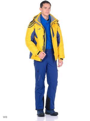 Куртка Think Pace. Цвет: желтый, синий
