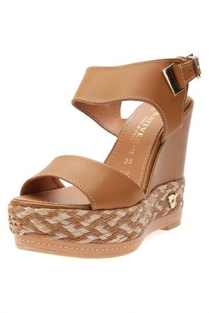 Wedge sandals PRATIVERDI. Цвет: cuoio