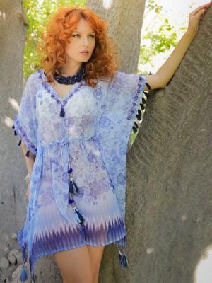 Туники MIA-MELLA. Цвет: голубой