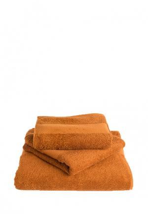 Комплект полотенец 3 шт. Bellehome. Цвет: коричневый