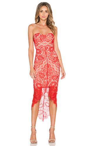 Платье macey Elle Zeitoune. Цвет: красный
