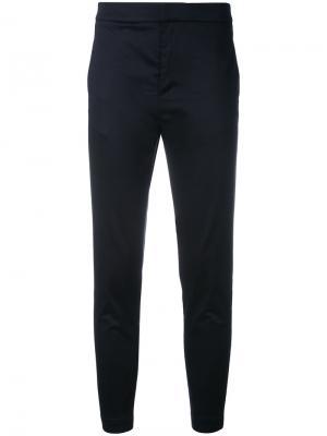 Укороченные брюки Eleventy. Цвет: синий