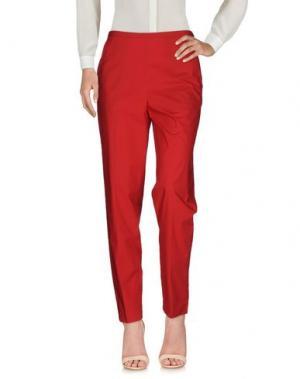 Повседневные брюки FABRIZIO LENZI. Цвет: кирпично-красный