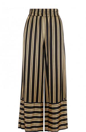 Укороченные брюки из вискозы в полоску By Malene Birger. Цвет: черный