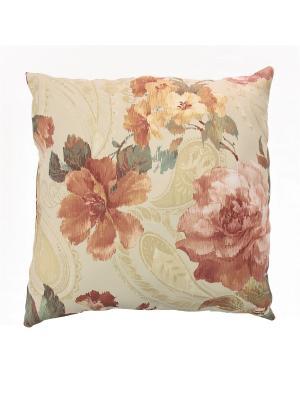 Декоративная подушка Naturel. Цвет: бежевый, бордовый