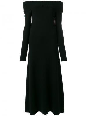 Платье макси Judy Gabriela Hearst. Цвет: чёрный
