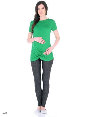 Футболка для беременных 40 недель. Цвет: зеленый