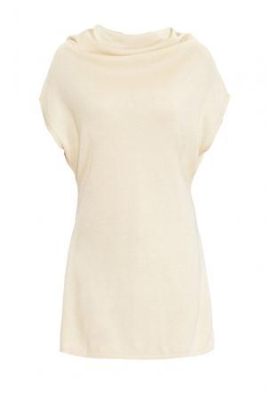 Платье из хлопка с вискозой 149038 Firkant. Цвет: бежевый