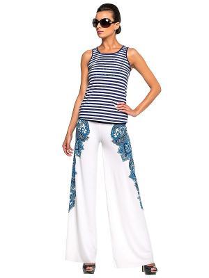 Комплект пляжный брюки+топ LORA GRIG. Цвет: белый