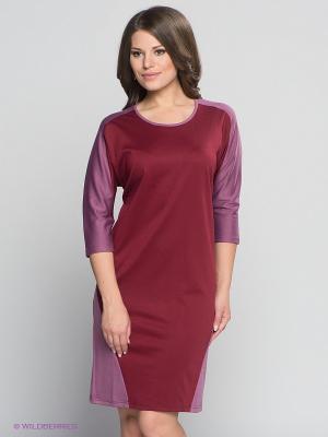 Платье МадаМ Т. Цвет: бордовый, сиреневый