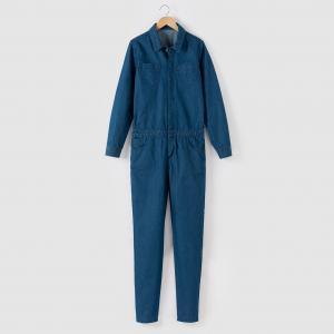 Комбинезон джинсовый длинный 10-16 лет R pop. Цвет: синий потертый