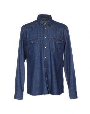 Джинсовая рубашка M.GRIFONI DENIM. Цвет: синий