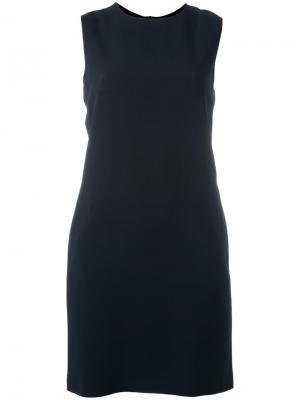 Платье-шифт Helmut Lang. Цвет: синий