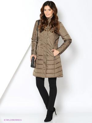 Пальто Azule. Цвет: коричневый