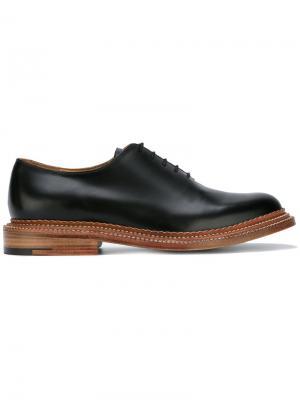 Классические туфли на шнуровке Grenson. Цвет: чёрный