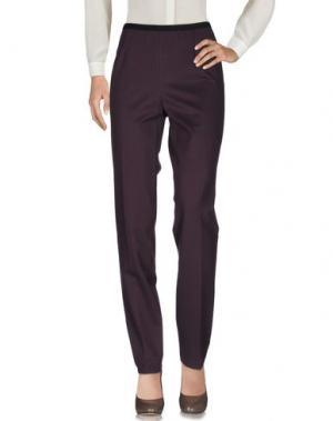 Повседневные брюки QL2 QUELLEDUE. Цвет: баклажанный