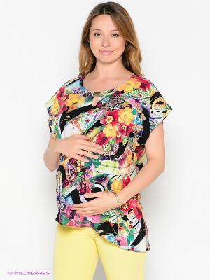 Блузка UNIOSTAR. Цвет: желтый, черный, красный