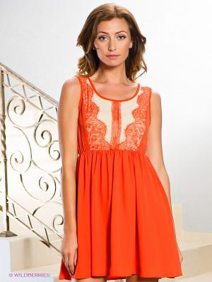 Платье Esley. Цвет: рыжий